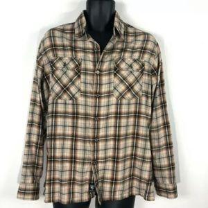 Kuhl Flannel Shirt Mens M plaid button front